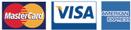 Credit Cards: MasterCard, Visa, American Express