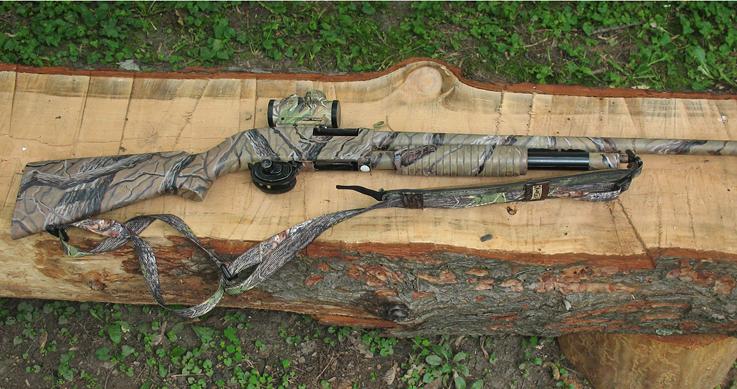turkey gun makeover - a gun sitting on a log