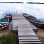Todd Jarman and his view of Lake Biscotassi on Lord Grey Owl Island.