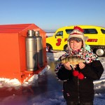 Emily Ortolan and her dad Evan of Orangeville had a great fishing trip for Simcoe perch