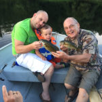 Three generations of fisherman. From L-R: Dad Eric, son Antoine, and Uncle Bob.