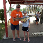 Hunter Murray caught this walleye while fishing with his dad, Craig, on Lake Erie.