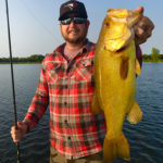 Dan Haley was fishing the Bay of Quinte when he reeled in this gold largemouth bass.