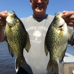Dan Keefe with some slabs of crappie up in Lake of the Woods!
