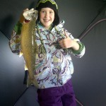Stephanie, 12, one-upped her father, Dean DelBosco, while fishing for jumbo perch. This was her first lake trout, weighing in a 3 pounds.