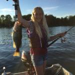 Miranda Pallister, 10, landed this monster hog on Buckhorn Lake.