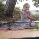 Hannah Seebach caught this pike on Deer Lake.