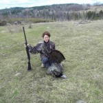 Jackie got her second turkey this year while hunting near Ottawa this season.