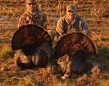 Jeff Wenzler and his buddy on opening day of turkey season in Southern Ontario.