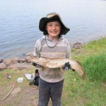 9-year-old Kaleb's first pike.