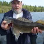 Brian Cripps caught this 25 ¼-inch walleye while fishing with a guide at Wylie Point Lodge in Kenora, Alberta.
