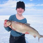 Emma, a Fleming College student, spent most of her reading week fishing Lake Simcoe with her Uncle Paul and her father, Tom. Emma was able to land her personal best whitefish and also her biggest lake trout, which weighed in at 12 pounds.