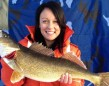Jordan Kelly, from Barrie, got this 8-pound walleye in the Bay of Quinte when she was visiting family at Christmas.
