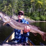 Richard Hardy caught and released this 42-inch pike on a canoe trip.