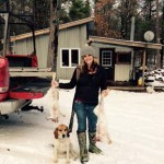 Sadie Greenwood has hunted cotton tails but this was her first snowshoe hunt, on the first one using dogs. For her, it was one of the most exciting hunts she's been on.