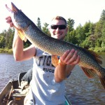 "Steve Paxton lands a personal best with this 36"" pike caught with no leader."