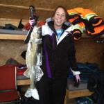 Tiffany Walker of Bracebridge caught this walleye on a tip up during a Lake Nipissing fishing trip. It weighed 9 pounds, 3 onces and was 28 inches long.