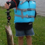 Charlie,5, caught her first ever fish, a 23 ½-inch northern pike during a family fishing adventure to Moose Haven Lodge in Charlton.