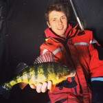 """Brady Norman of Innisfil submitted this photo. He says he was having a great morning out on Lake Simcoe with a lot of fish well over 10 inches but in the mix there were a few toads including this one - """"a 14.5 inch hog""""."""