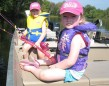Twins Miley & Marissa Mumby, 4, enjoying the outdoors on Stoco Lake (Tweed), while doing some sister bonding.