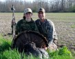 Autumn Bigger from Beamsville shot her first turkey with her father,J.W., on May 11, 2014. The tom came charging in and attacked the decoy. Autumn was able to make a good shot at 22 yards.