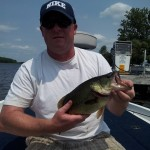 Shawn, 42, caught this nice bass on Pigeon Lake.