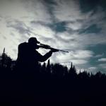 Skyler Goretzki hunting in Atikokan, Ontario.