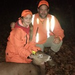 Taylor Brown's first deer, shot on Nov. 10, with a .243, from a tree stand with her father Cory.