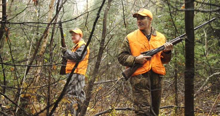 whitby - fee - dogger - two hunters in thick woods