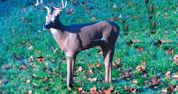 a full-body deer target
