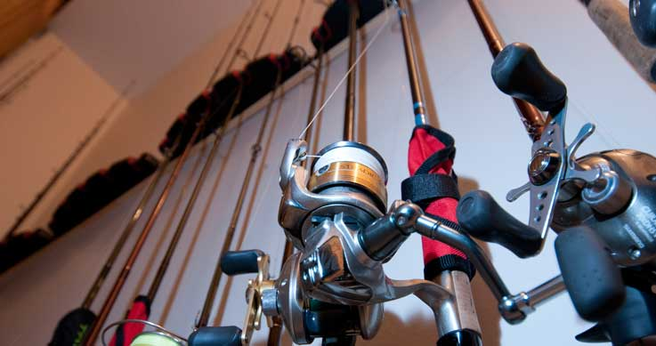 tidy - Rod racks keep rods from tangling