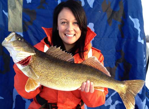Shannon Kelly and her 8lb walleye