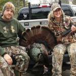 Dash Fitzgerald and his girlfriend Danielle Sawyer had a great start to their spring turkey season. About 30 minutes into the hunt, Dash called in this big tom. Danielle took a 20 yard shot out of their blind and downed him. It had an 8 ½ -inch beard, 3 ¼ -inch spurs and weighed 25.5 pounds.