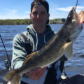 Cameron Ferguson with walleye