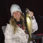 Kicking off the new year, Chrissy Fobert iced this walleye out on the Bay of Quinte.