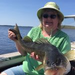 Diane Carriere was fishing her favorite spot on the North Channel when this 31.5-inch walleye.