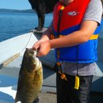 Jack Nelson was fishing with his Dad and his dog Blue when he reeled in his personal best smallie.