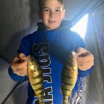 Charlie Kennedy iced these perch his first time ice fishing on Lake Simcoe.