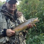 Joe Bouchard caught this early morning brown trout in Brant County.
