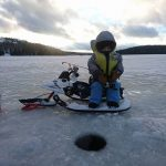 Leo Foy was monitoring his fishing hole right before he iced his first walleye.