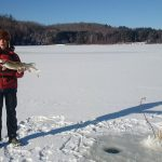 Sam Coulas was fishing with his dad in early December when he iced this pike.