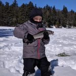 Lyle Waugh caught this brook trout while out on Butternut Lake with his dad and grandpa.