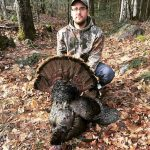 Bryan Hill hunted this turkey on a friend's farm in Minden