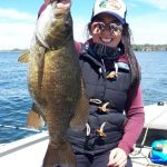 Cynthia Delahaye of Amherstview caught this personal best smallmouth in Collins Bay on Lake Ontario.