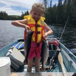 Charlotte Sinclair of Sault Ste. Marie sent in this photo of her daughter Arianna Sinclair-Shaules with two speckled trout.