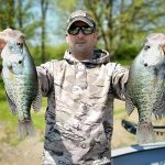 Ryan Nadeau displays crappie from the Grand River in Dunnville.