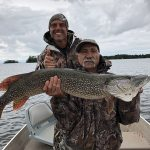 Lino Cassetta of Orangeville caught this pike in Lake Nipissing while on a week fishing trip for his 70th birthday. He was joined by family and friends.