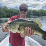 Wade Clymer of Oshawa caught and released this huge bass on Chandos Lake near Apsley.