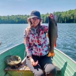 Jana Pazin of Kitchener caught this giant brook trout from her secret fishing spot northeast of Toronto.