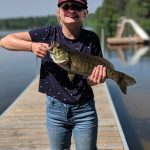 Ava Moss caught her first big fish – a smallmouth bass - off the dock at a friend's cottage on Talon Lake using just a hook and worm.